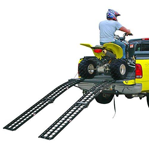 96″ Black Widow Aluminum Folding Dual Off-Road ATV Loading