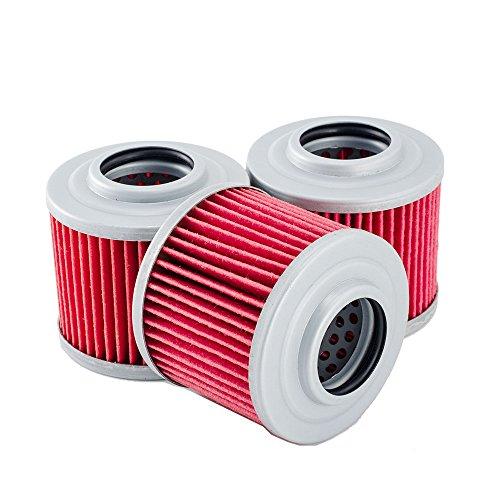3 pack oil filters for can am commander 800r 1000 ssv dps. Black Bedroom Furniture Sets. Home Design Ideas